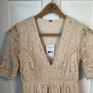 Free People Mountain Laurel Lace Dress